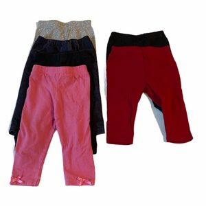 5/$20 Carter,'s pink black leggings size 6 months